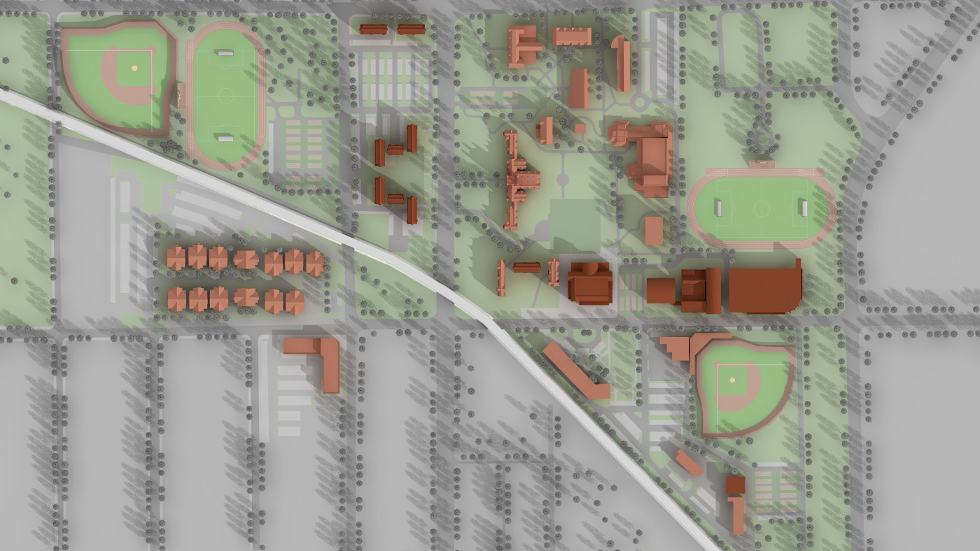 Millikin University Campus Map.Cordogan Clark Associates Master Planning Millikin University